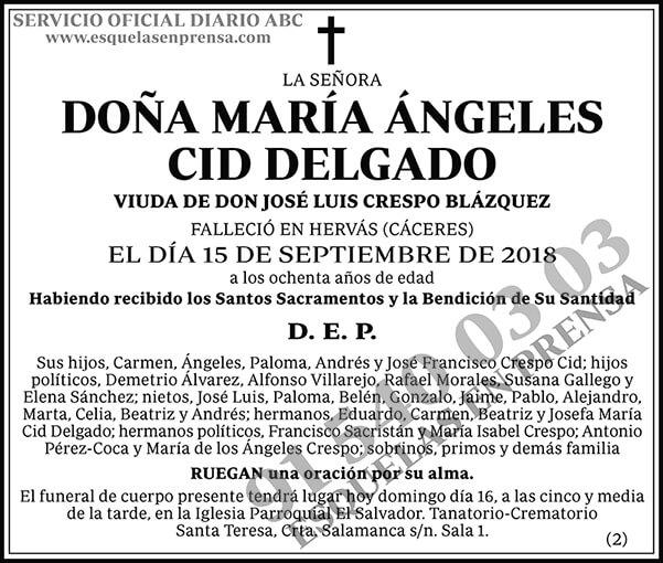 María Ángeles Cid Delgado